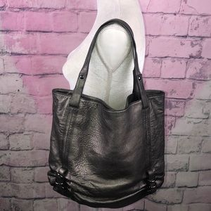 Kooba Pewter Leather Monroe Tote Bag Gorgeous
